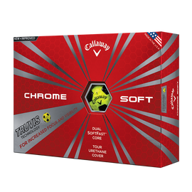 Chrome Soft Truvis Yellow and Black Golf Balls