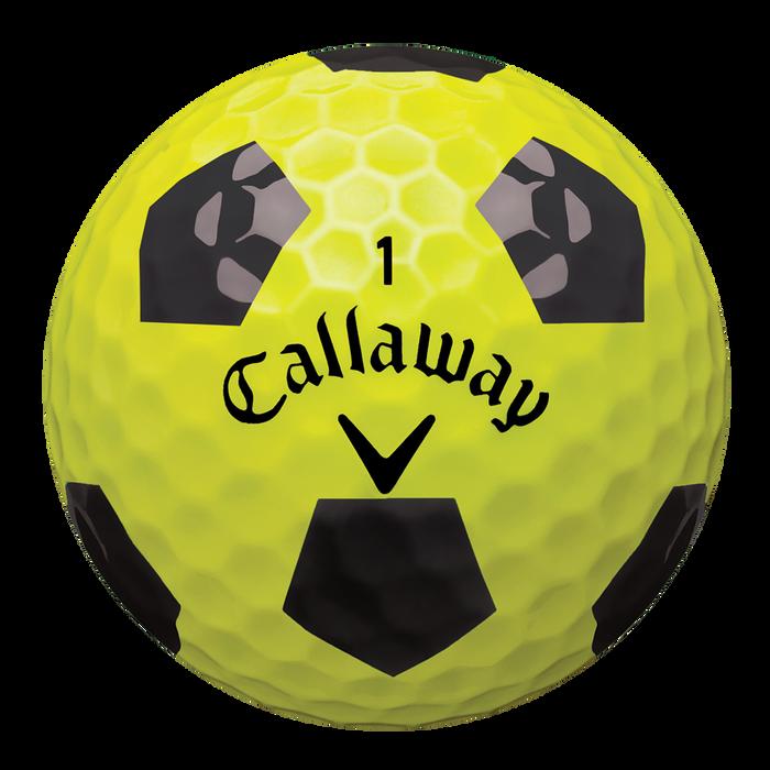 Chrome Soft Truvis Yellow and Black Golf Balls