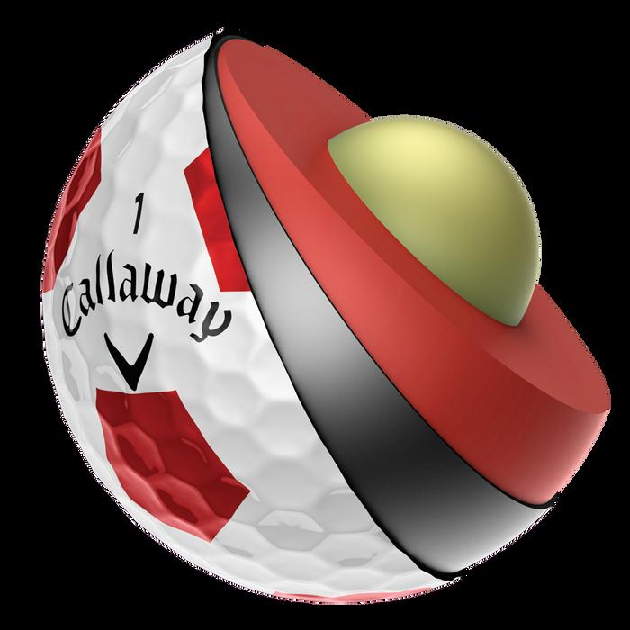 Chrome Soft Golfball mit Truvis Technologie