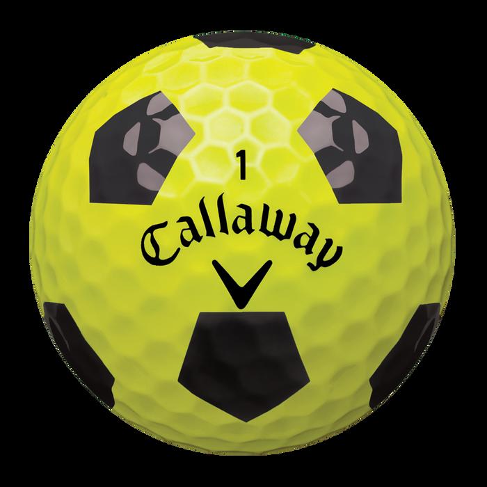 Chrome Soft X Truvis Yellow and Black Golf Balls