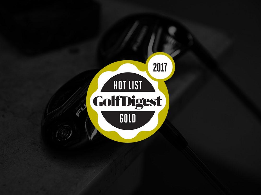 Callaway Big Bertha Fusion Fairway Wood 2017 Golf Digest Hot List Badge