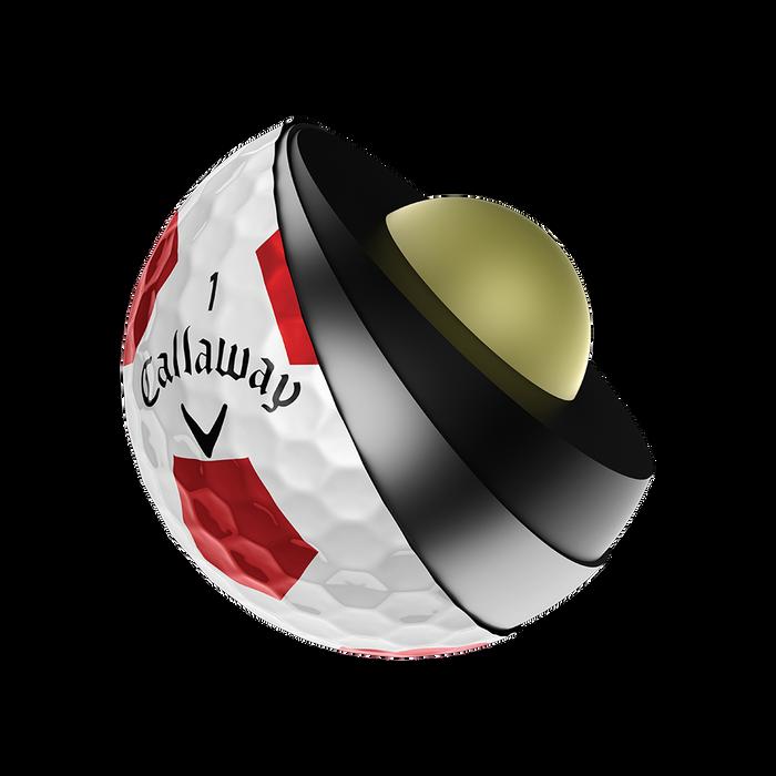 2018 Chrome Soft X Truvis Red Golf Balls