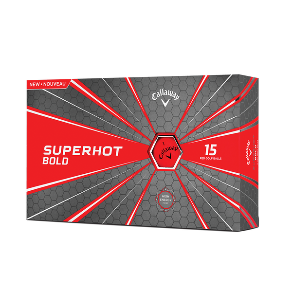 Superhot Bold Matte Red 15-Pack Golf Balls Technology Item