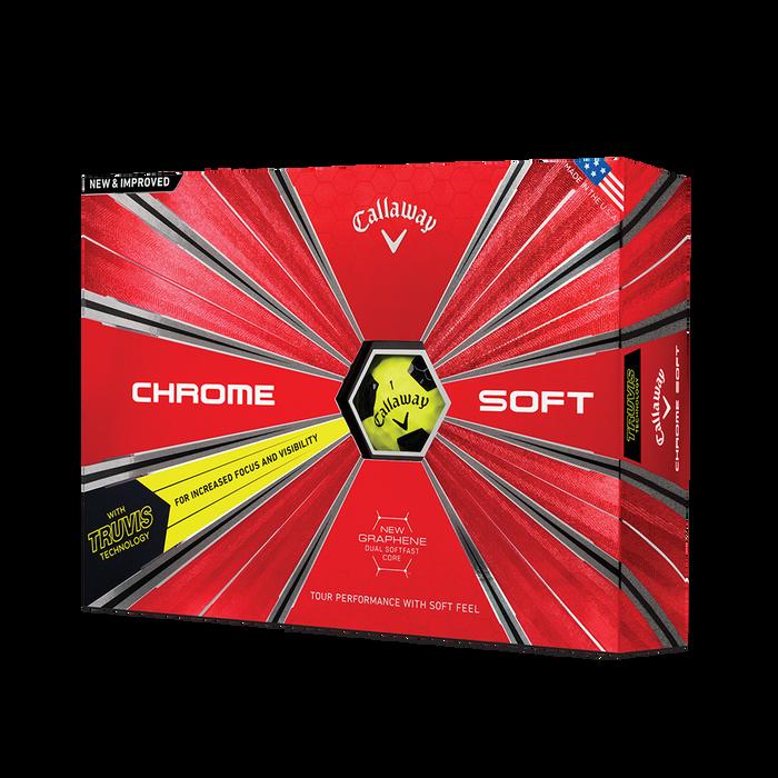 Der neue Chrome Soft Truvis Yellow Golfball