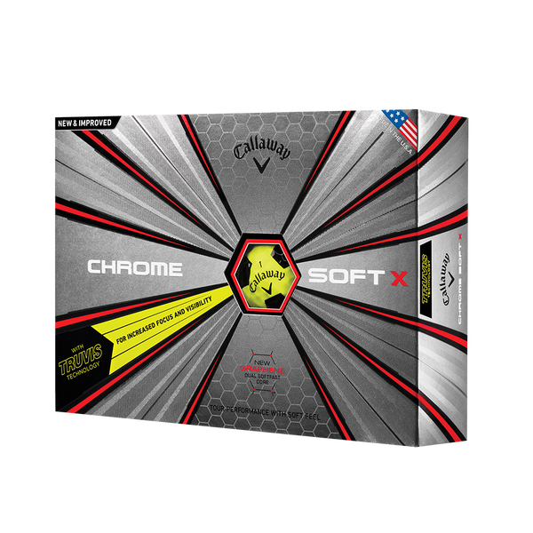 Der neue Chrome Soft X Truvis Yellow Golfball Technology Item