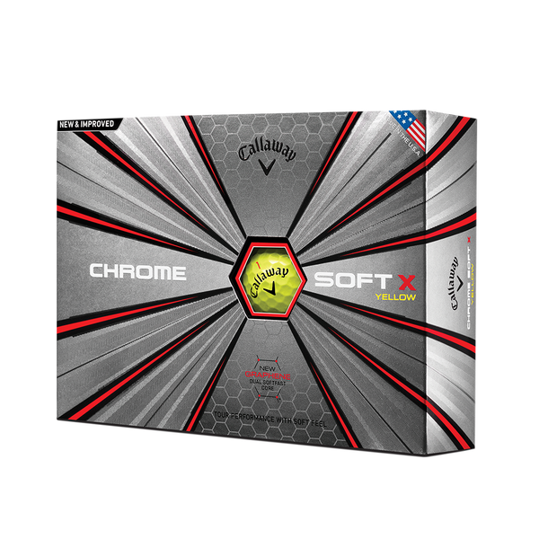 Der neue Chrome Soft X Yellow Golfball Technology Item