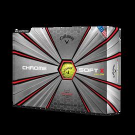 Der neue Chrome Soft X Yellow Golfball