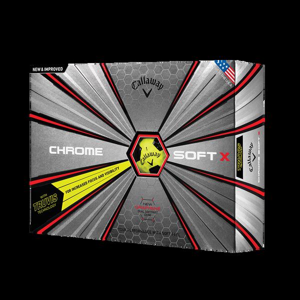 Der neue Chrome Soft X Truvis Yellow Golfball Technology Item