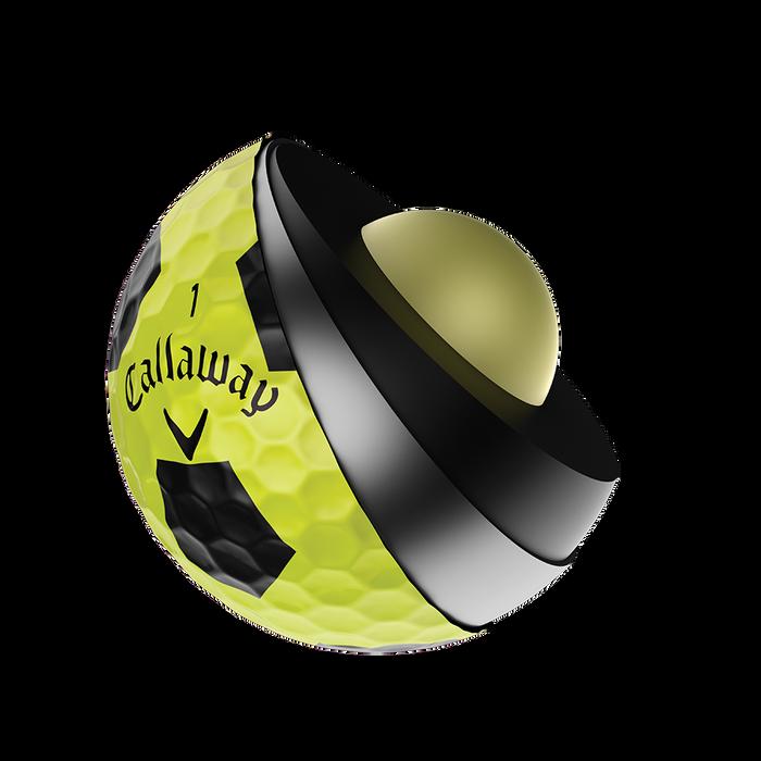 Der neue Chrome Soft X Truvis Yellow Golfball