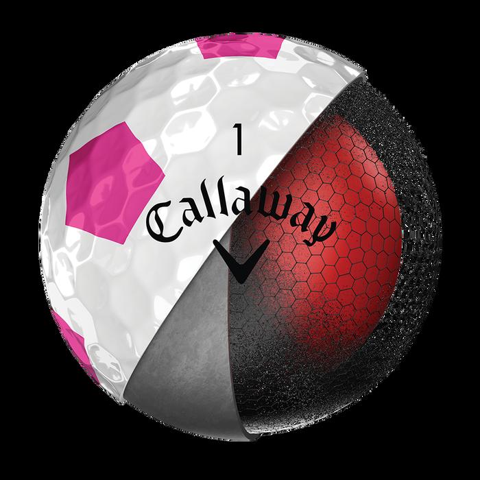 Der neue Chrome Soft Truvis Pink Golfball