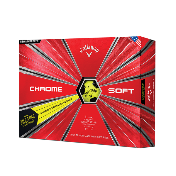 Der neue Chrome Soft Truvis Yellow Golfball Technology Item