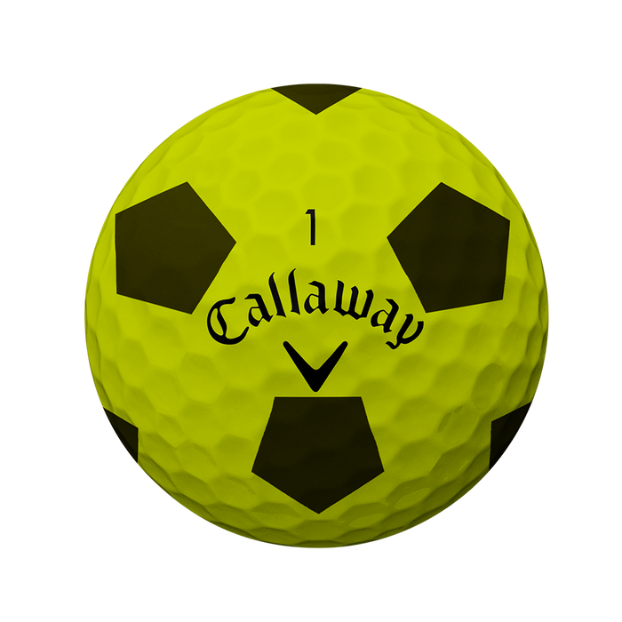 Der neue Chrome Soft Truvis Yellow Golfball