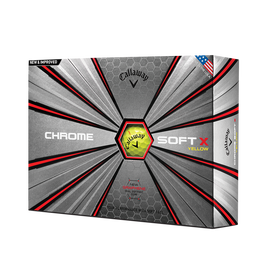 Der neue Chrome Soft X Yellow Golfball