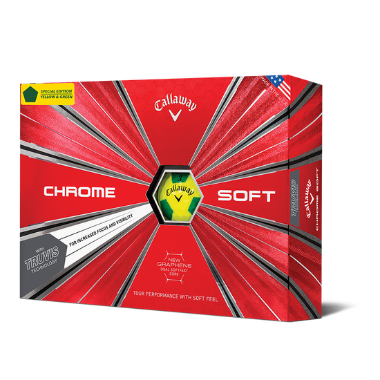 Chrome Soft Truvis Yellow & Green Golf Balls
