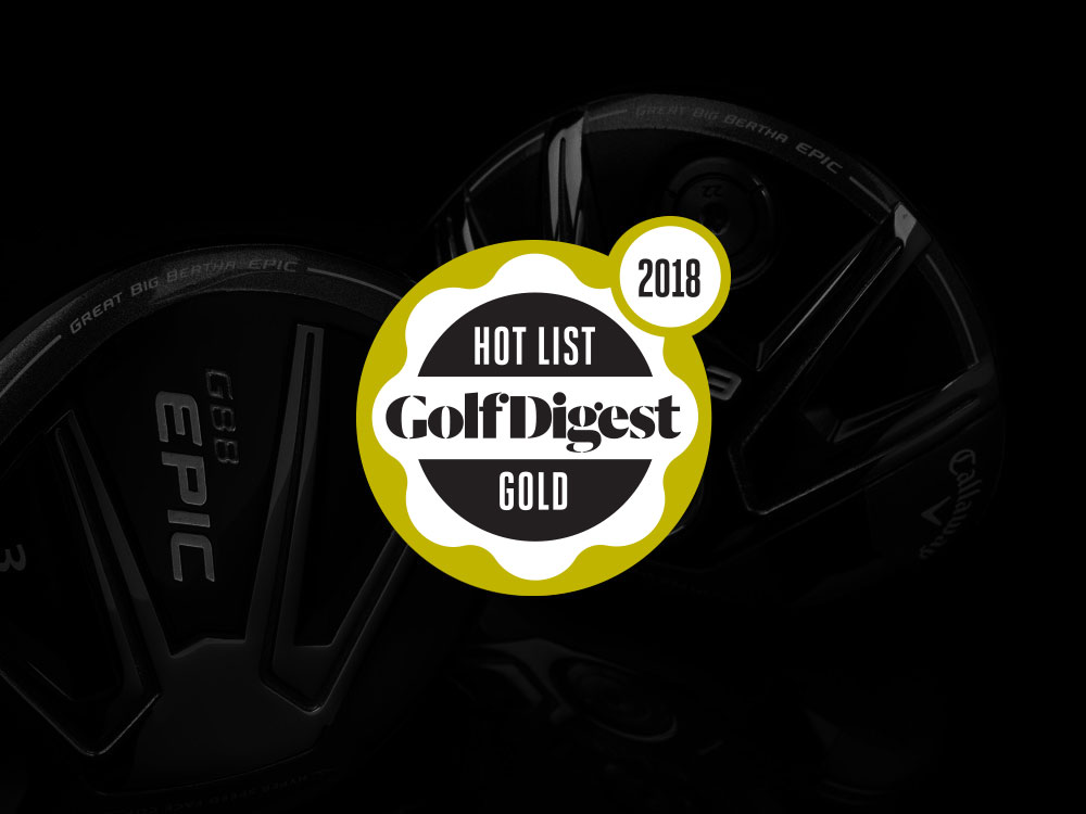 Callaway GBB Epic Sub Zero Fairway Wood 2018 Golf Digest Hot List Badge