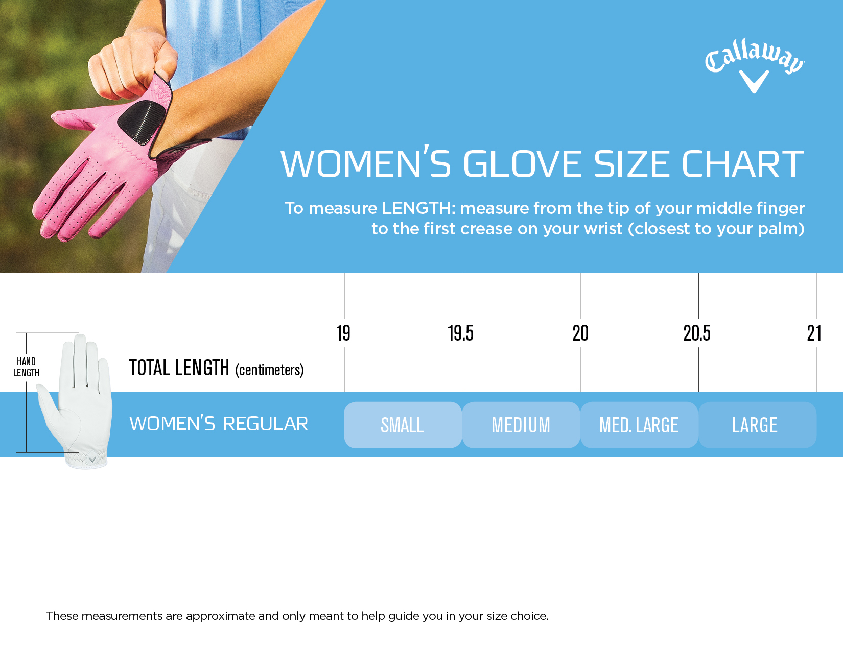 Callaway Women S Tour Authentic Glove Golf Gloves